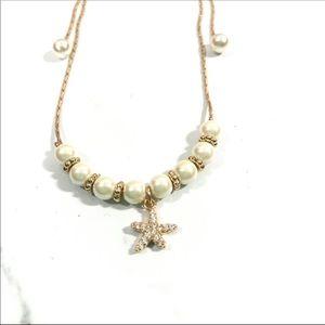 Beach Fashion Jewelry. Pearl & Starfish bracelet